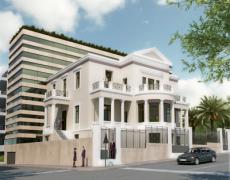 Addition in neo-Classical building, Piraeus